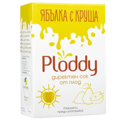 Студено пресован сок Ploddy от ябълка с круша