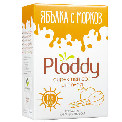 Студено пресован сок Ploddy от ябълка с морков
