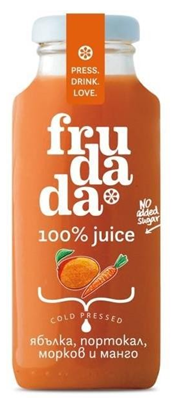 Студено пресован сок Frudada ябълка, портокал, морков и манго