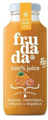 Студено пресован сок Frudada ананас, портокал, ябълка и маракуя