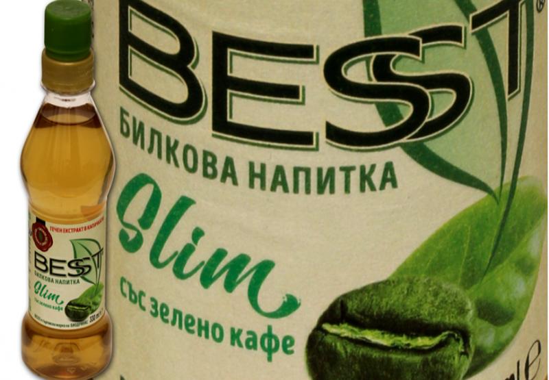 Билкова напитка с екстракт от натурално зелено кафе Besst Slim