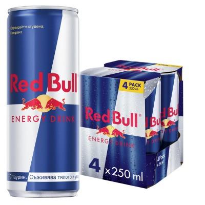 Енергийна напитка Ред Бул 4 х 0.25 л