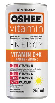 Напитка OSHEE енерджи с витамин D + K