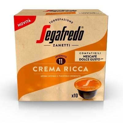 Кафе капсули Segafredo Crema Ricca съвместими със система Dolce Gusto