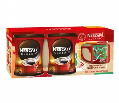 Разтворимо кафе NESCAFE Classic + чаша Grown respectfully 250 мл