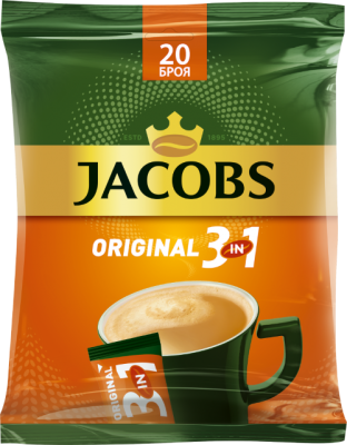 Разтворимо кафе Jacobs 3in1 Original multipack
