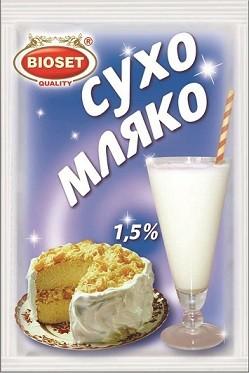 Сухо мляко Обезмаслено 1.5% Bioset