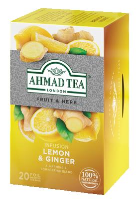 Плодово билков чай AHMAD Lemon & Ginger