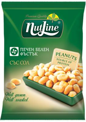 Печени белени фъстъци Nutline със сол