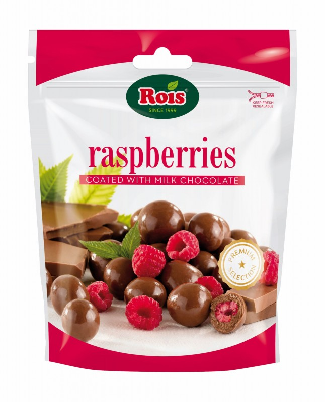 Малини в млечен шоколад Rois