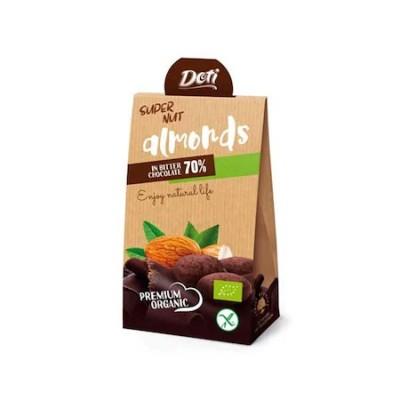 Органични бонбони DOTI бадеми в био шоколад