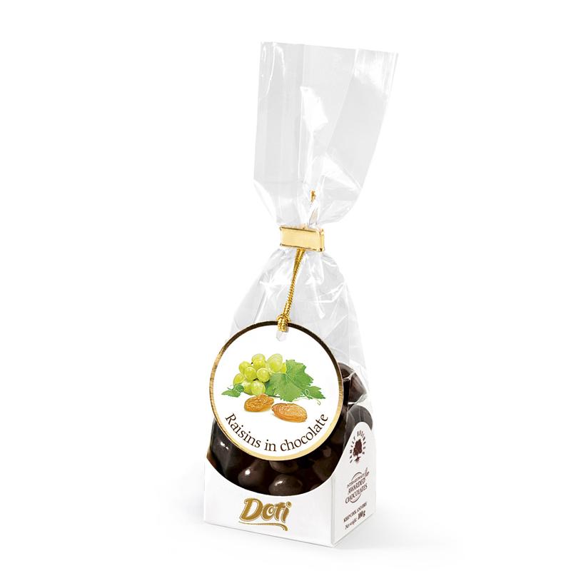 Бонбон Doti стафиди в млечен шоколад