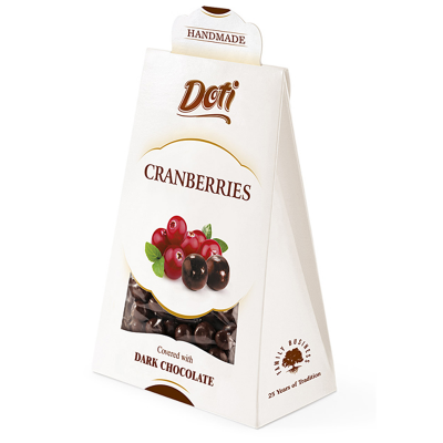 Бонбони Doti червена боровинка в черен шоколад