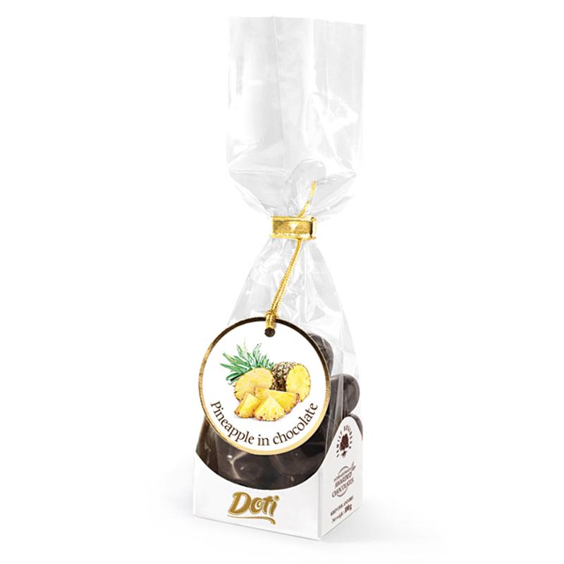Бонбони Doti ананас в черен шоколад