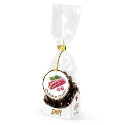 Бонбони DOTI ревен в черен шоколад