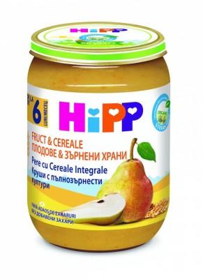 БИО Каша Плодове и Зърнени храни HiPP круши с пълнозърнести култури