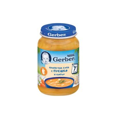 Супа Gerber Пролетна с Пуйка и Копър