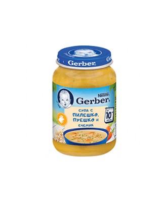 Супа Gerber с Пиле, Пуйка и Ечемик
