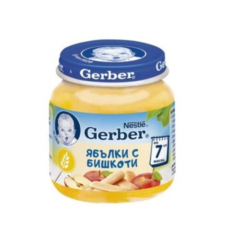 Десерт Gerber Ябълка и Бишкота