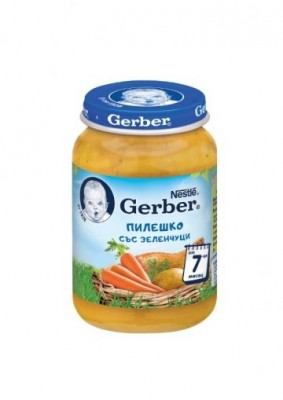 Пюре Gerber Пилешко с зеленчуци