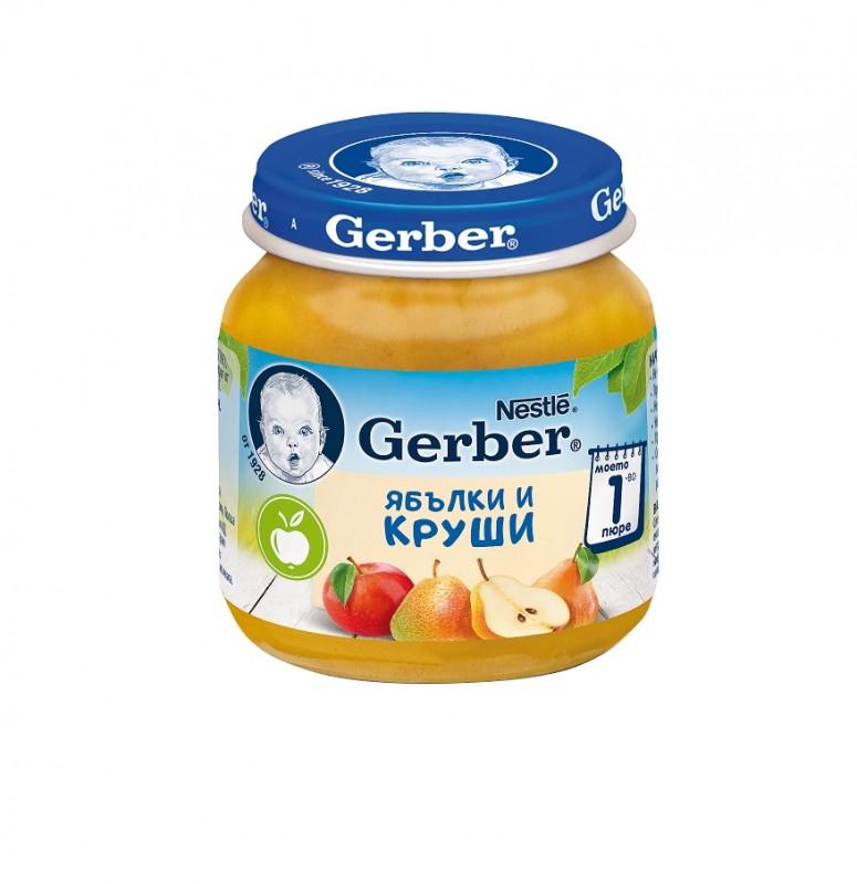 Пюре Gerber Ябълка и Круша