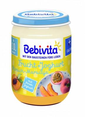 Пюре Bebivita йогурт с плодове - праскова и маракуя