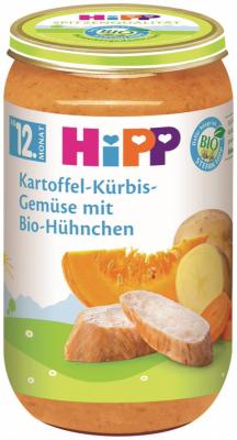 БИО Пюре HiPP картофи, тиква, зеленчуци и пиле