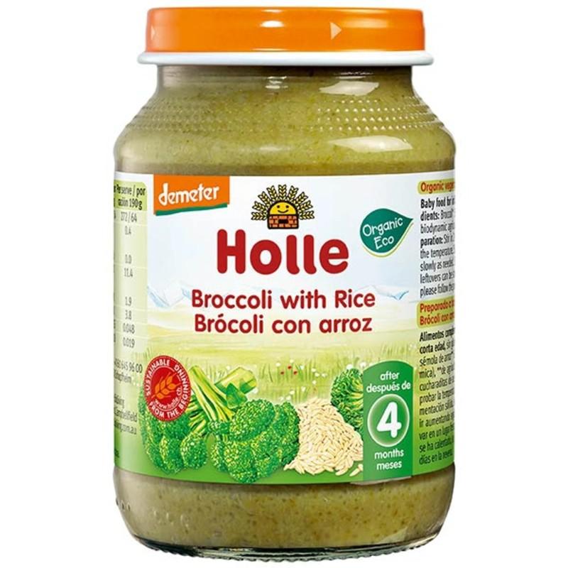 БИО Пюре Holle броколи, ориз