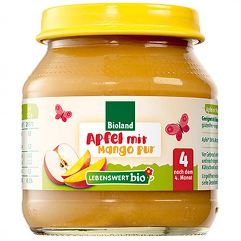 БИО Пюре Lebenswert bio ябълка, манго