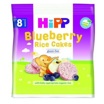 БИО Оризови бисквити с боровинки HiPP