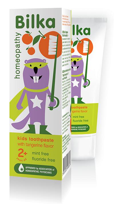Хомеопатична детска паста за зъби Bilka Organic 2+ Мандарина