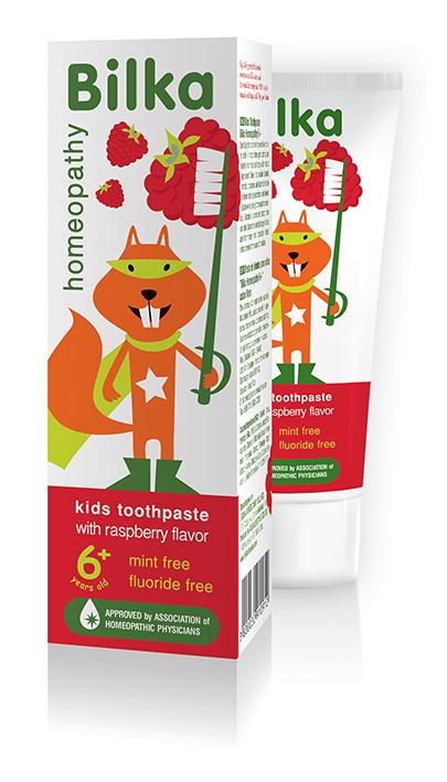 Хомеопатична детска паста за зъби Bilka Natural 6+ Малина