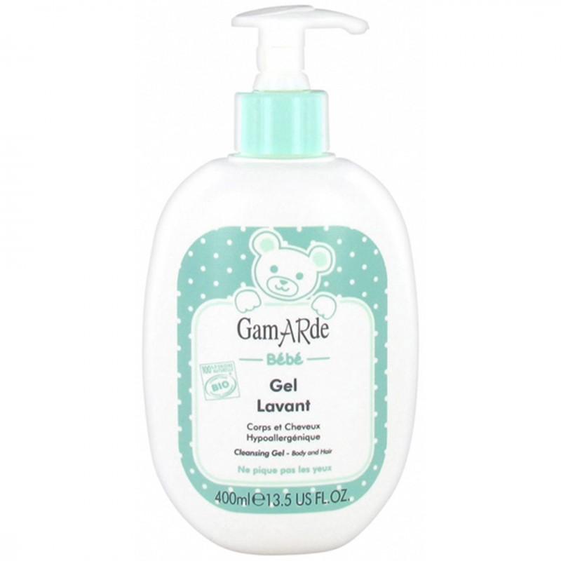 Органичен почистващ гел за бебета GAMARDЕ за коса и тяло