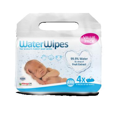Бебешки мокри кърпи WaterWipes Куатро
