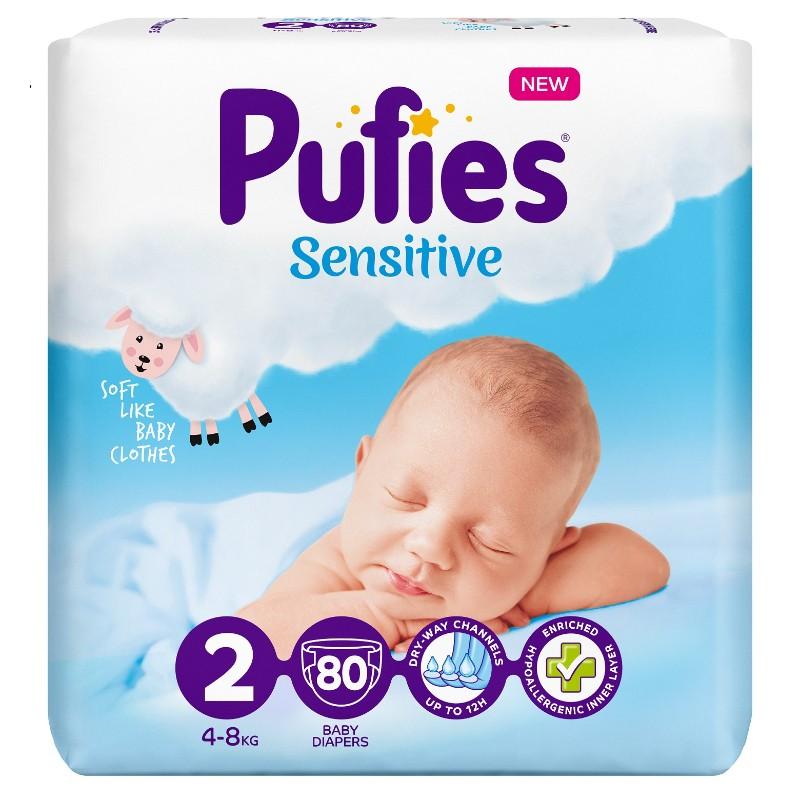 Бебешки Пелени Pufies Sensitive Mini (2) 4-8 кг