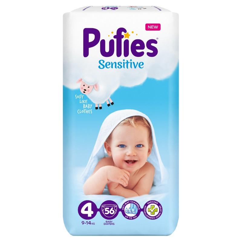 Бебешки Пелени Pufies Sensitive Maxi (4) 9-14 кг