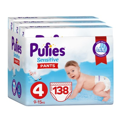 Гащички Pufies Sensitive Maxi (4) 9-15 кг