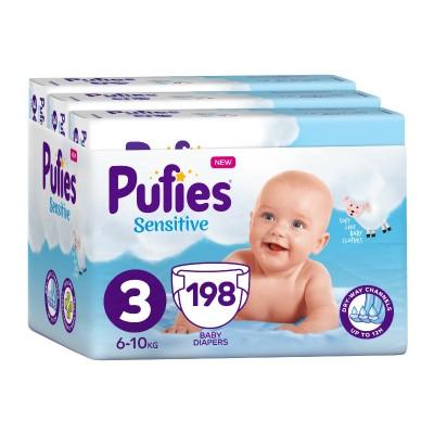 Бебешки Пелени Pufies Sensitive Midl (3) 6-10 кг