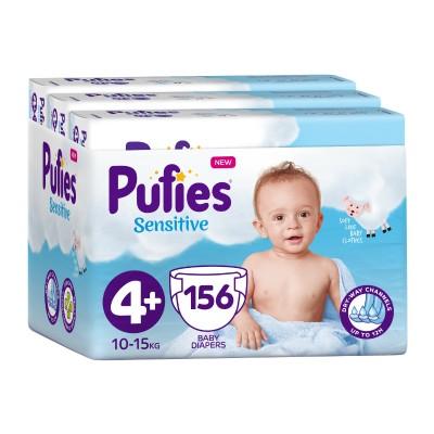 Бебешки Пелени Pufies Sensitive Maxi+ (4+) 10-15 кг