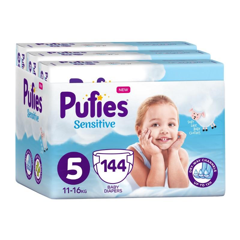 Бебешки Пелени Pufies Sensitive Junior (5) 11-16 кг