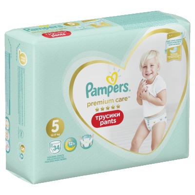 Пелени гащички Pampers Premium Care S5 12-17 кг