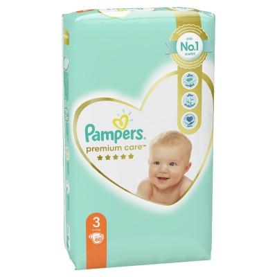 Бебешки пелени Pampers Premium Care S3 Midi 6-10 кг