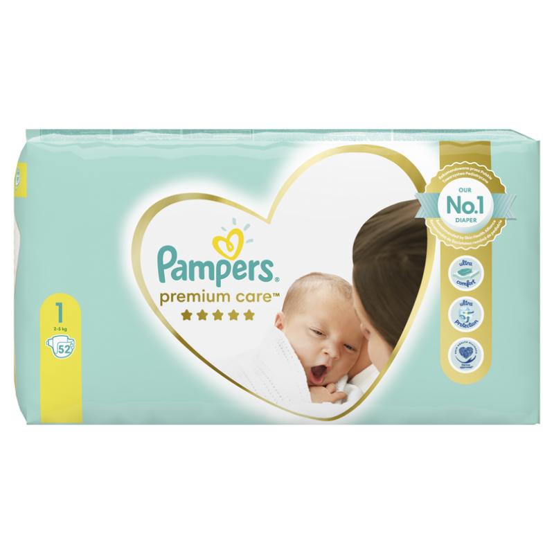 Бебешки пелени Pampers Premium Care S1 Newborn 2-5 кг