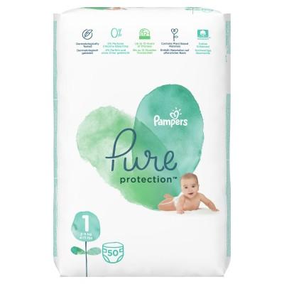 Бебешки пелени Pampers PURE S1 Newborn 2-5 кг