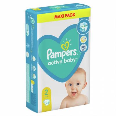 Бебешки пелени Pampers Active Baby MAXI pack S2 Mini 4-8 кг