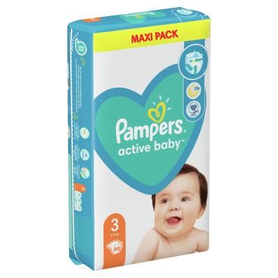 Бебешки пелени Pampers Active Baby MAXI pack S3 Midi 6-10 кг
