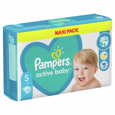 Бебешки пелени Pampers Active Baby MAXI pack S5 Junior 11-16 кг