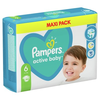 Бебешки пелени Pampers Active Baby MAXI pack S6 XL 13-18 кг