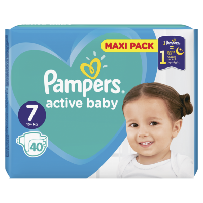 Бебешки пелени Pampers Active Baby MAXI pack S7 XL 15+ кг