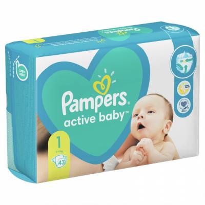 Бебешки пелени Pampers Active Baby Newborn S1 2-5 кг